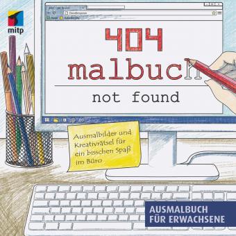 404 Malbuch not found - Das Ausmalbuch für Erwachsene