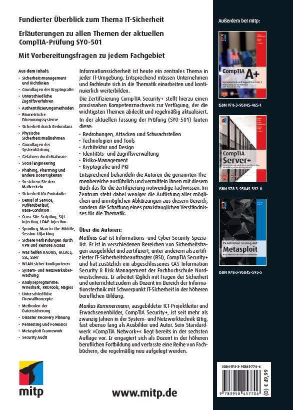 mitp-Verlag | CompTIA Security+ | online kaufen